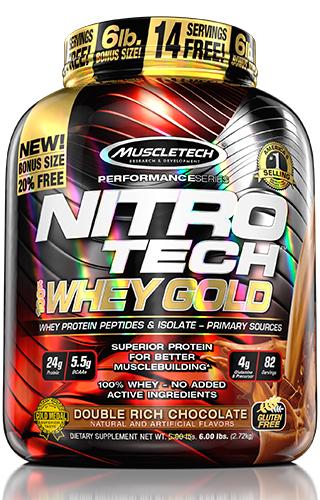 NITRO TECH 100% WHEY GOLD 5.5LBS