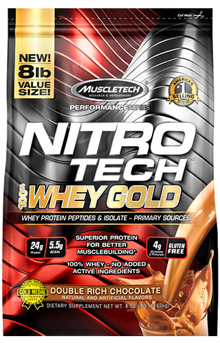NITRO TECH 100% WHEY GOLD 8LBS